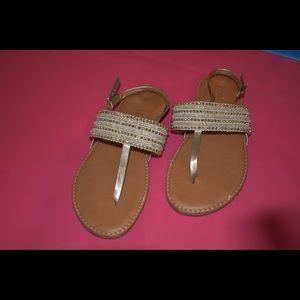 Gold Flip Flop Sandals | Kids' Shoes | Girls